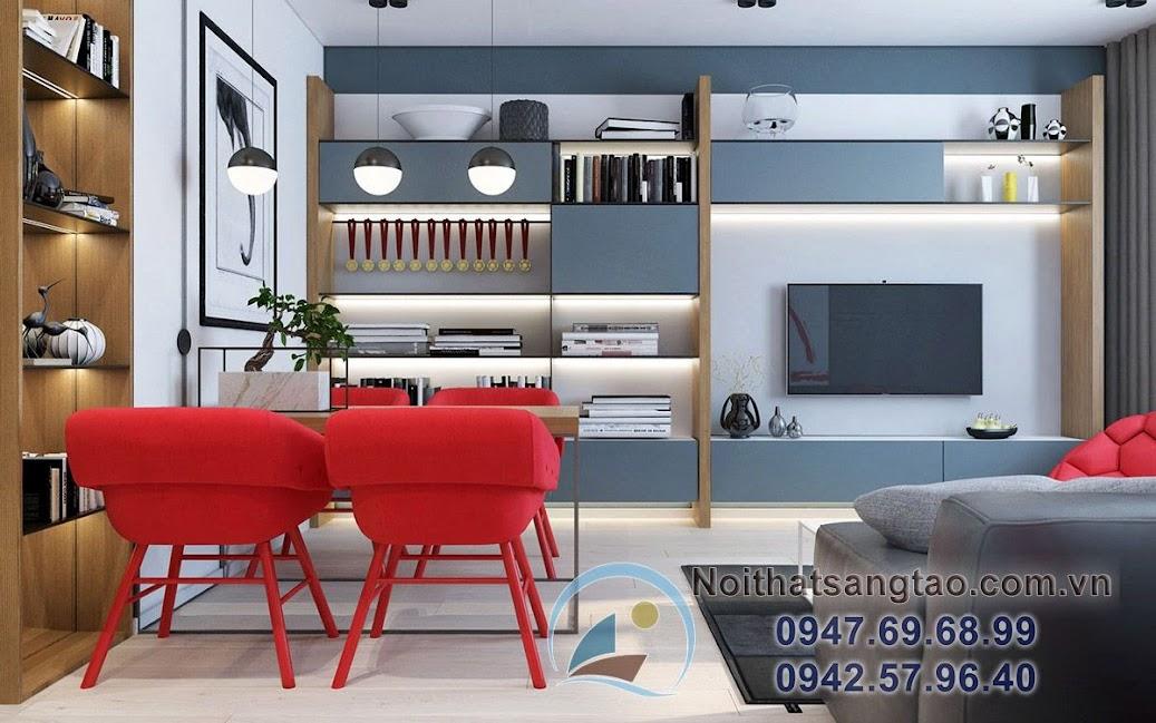 thiết kế nội thất chung cư 90m2 ấn tượng