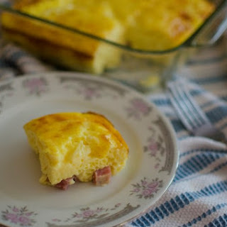 Cheesy Oven Omelette With Ham #SundaySupper
