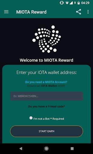 MIOTA Reward - Earn free IOTA screenshot 1