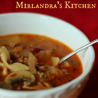 Beef Minestrone Soup.