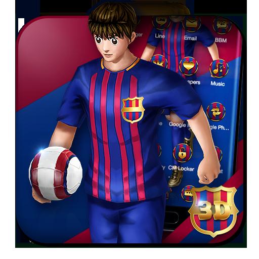 3D Barcelona Football Shooter Theme