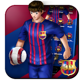 3D Barcelona Football Shooter Theme