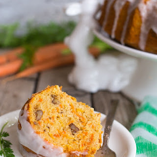 Gluten Free Carrot Pound Cake with Coconut Milk Icing