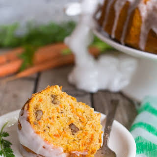 Gluten Free Carrot Pound Cake with Coconut Milk Icing.