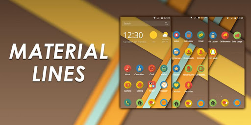 Material Lines Theme