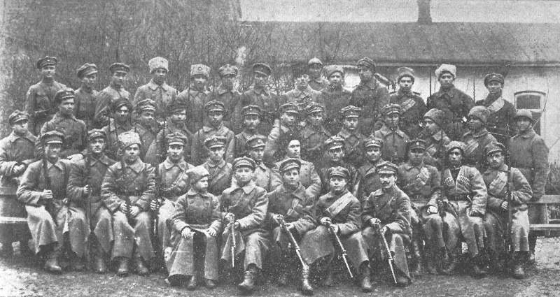 Сотня Січових Стрільців. поч. 1918 р. фото: vijsko.milua.org