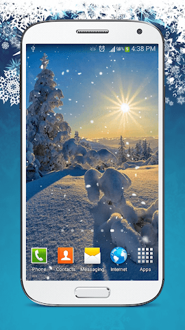 android Snow Live Wallpaper HD Screenshot 0