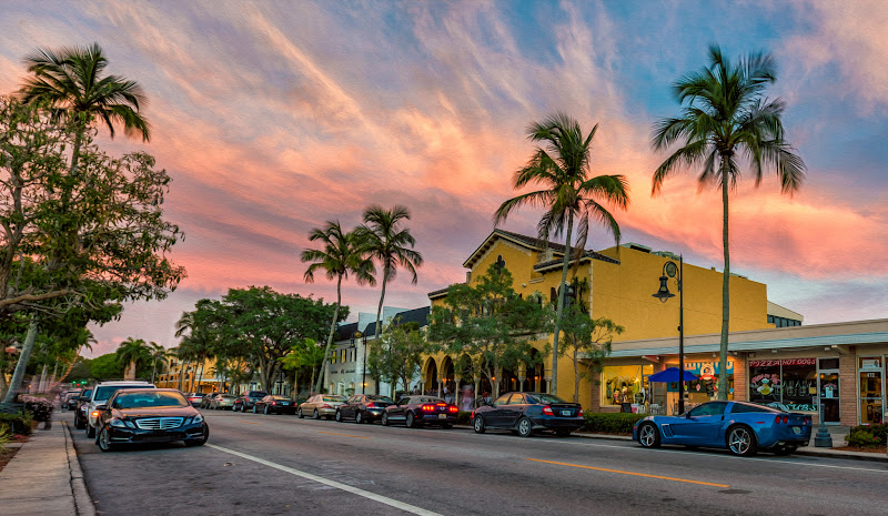 Photo: Avenue of Colors  ...also known as 5th Ave in #Naples, FL  Every time I stay in Naples, I have to shoot that road. Will be back, soon :)  If anybody in or around Naples, FL is up for a photowalk in early October, drop me a note.
