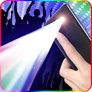 Color screen flashlight- disco light && Torch LED