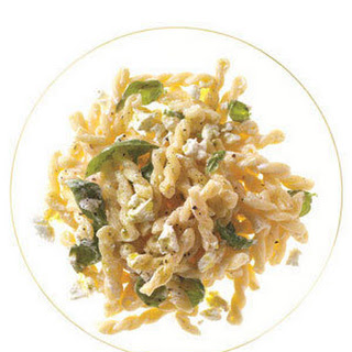 Pasta with Goat Cheese and Basil Oil Recipe