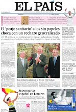 Photo: El 'peaje sanitario' a los sin papeles choca con un rechazo generalizado, los sindicatos plantean al Rey un referéndum y supermartes español en Londres, en la portada de la edición nacional del miércoles 8 de agosto de 2012 http://ep00.epimg.net/descargables/2012/08/08/91cf208959d1cfcdf7817a855ccc94de.pdf