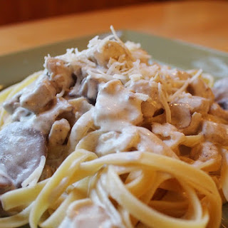 The Cheesiest Chicken Fettuccine Alfredo Recipe (Parmesan + Romano)