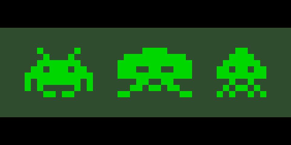 pixelgrafic dos game invaders ...