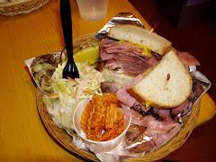 Sandwich à la viande fumée