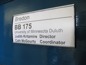 Photo: Door for office of Cath McGourty (UMD program coordinator) and 2011/2012 director