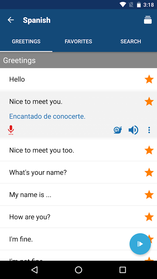 Learn Spanish- screenshot