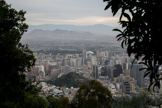 Photo: Santiago, Chile, viewed from the top of the funicular at Cerro Santa Lucia