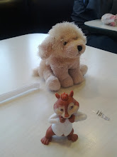 Photo: My daughter's lunch companions.