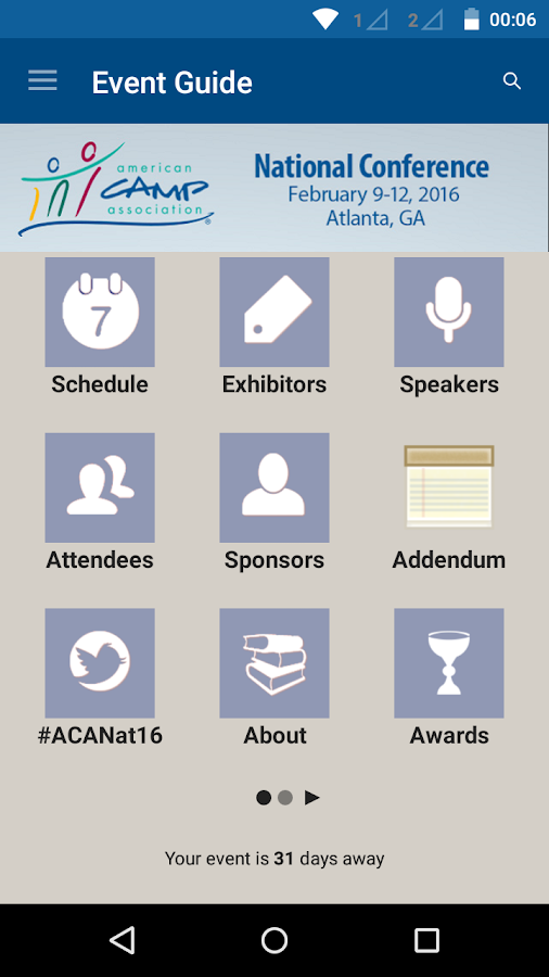 ACA's National Conference- screenshot