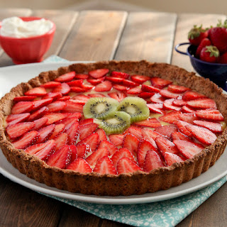 Strawberry Lemon Curd Tart With Gluten-free Almond Crust