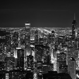 Chicago by Péter Mocsonoky - City,  Street & Park  Skylines ( urban, building, america, states, architecture, chicago, big, usa, city )