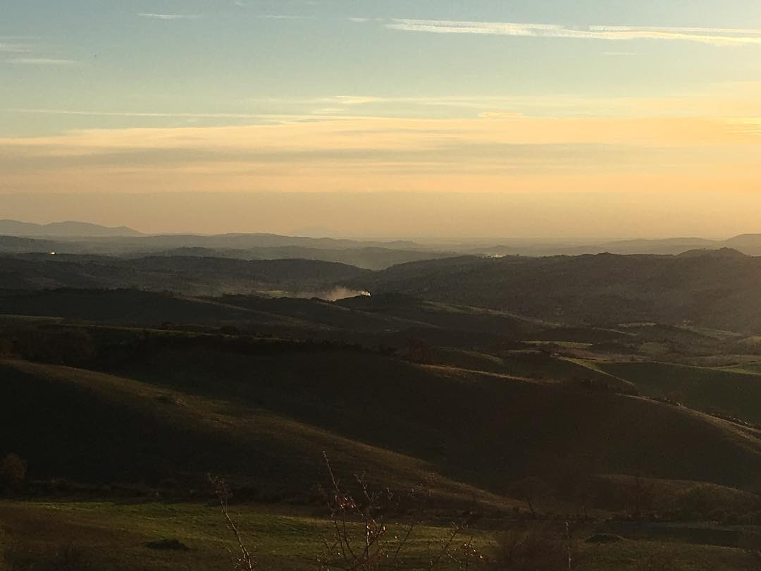 Vista sulla campagna maremmana, paese etrusco