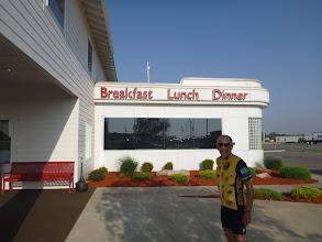 Photo: Len, outside of Lucille's