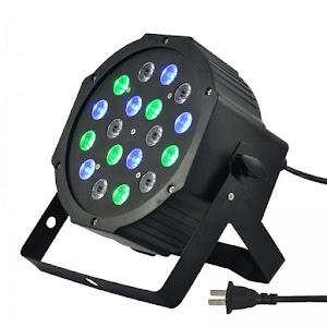 Reflector 18 LED RGB cu proiectie lumini