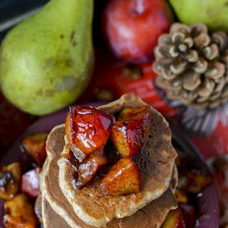 Buckwheat Apple Pancakes With Caramelized Plums