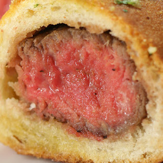 1. Steak Stuffed Garlic Bread