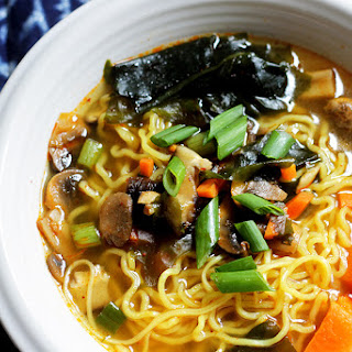 Korean Ramen Noodle Soup.