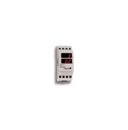 Ampere-/voltmeter digital, 3-siffrig, 2 module, 230VAC