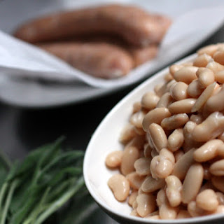 Chicken Sausage with White Beans and Sage.