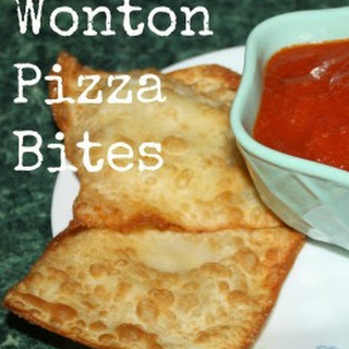 {Recipe} Wonton Pizza Bites