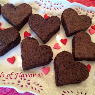 Valentine Heart Brownies.