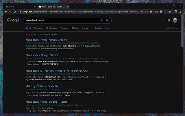 Google Searches Dark Theme