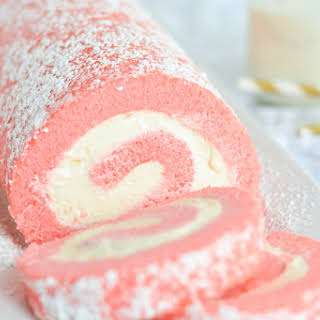 Pink Velvet Swiss Roll.