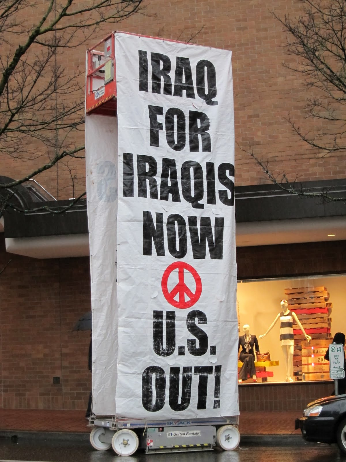 Peace and Justice Works Protests Continued US Presence in Iraq