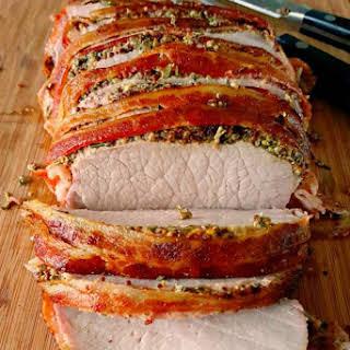 """Bacon """"Wellington"""" Pork Roast."""