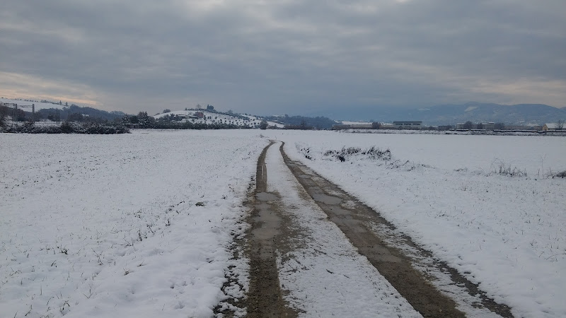 Stradina nella neve di Ila