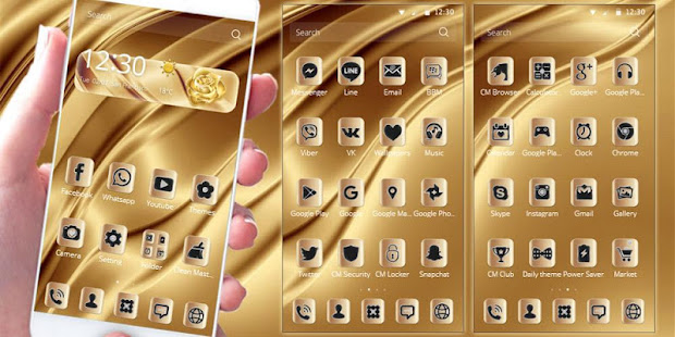 This Royal Gold Boss Theme Is Designed With Black Icons On Live Wallpaper It Very Luxury Screen Lock Rose Weather