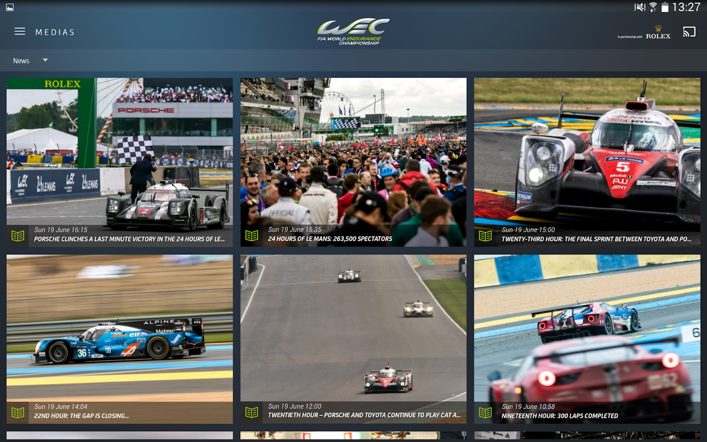 World Endurance Championship® – Capture d'écran