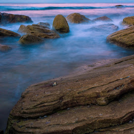 Winter's Beach by Daniel Wheeler - Landscapes Waterscapes ( seascape, sunset, winter, australia, long exposure, landscape )