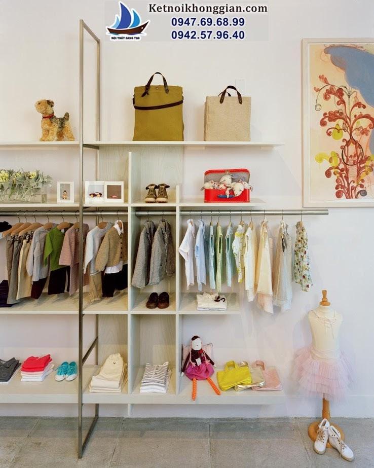 thiết kế shop quần áo trẻ em phá cách