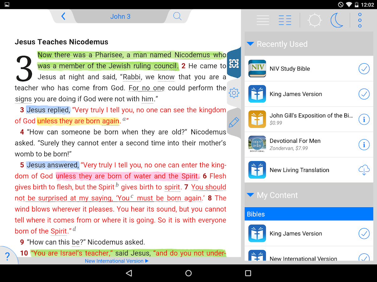 Zondervan NIV Study Bible- screenshot