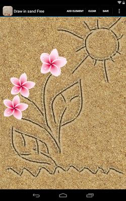 Draw in sand Free - screenshot