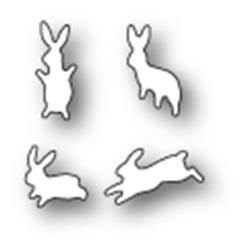 Poppystamps Die - Leaping Little Bunnies