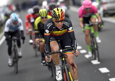 """Flinke opsteker voor Belgisch kampioen Oliver Naesen: """"Als je half koers op twee minuten zit en je wordt nog vierde ben je toch content"""""""