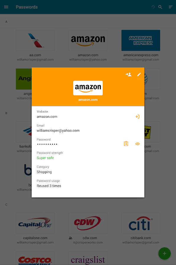 Dashlane Password Manager- screenshot