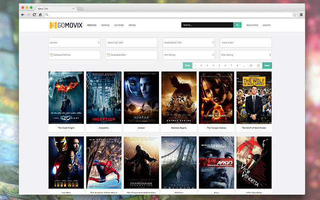 goMovix Start is a new Chrome extension for a quick click-and-visit experience.